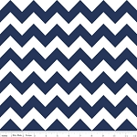 Navy & White Medium Chevron