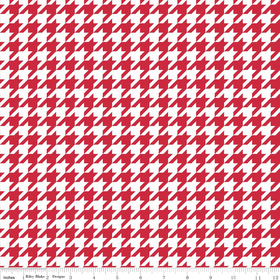 Medium Houndstooth - Red & White