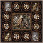 Barred Owls Quilt Kit - 42 1/2'' x 42 1/2''
