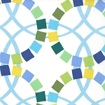 Quilt Blocks - Wedding Ring Pattern - Marine