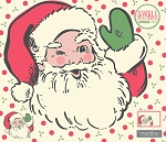 Swell Christmas Santa Applique Panel - 57 1/4'' x 51''