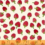 Flower Pedals Tossed Strawberries - Red