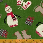 Craft Paper Christmas Tossed Snowmen - Green