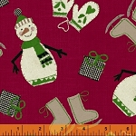 Craft Paper Christmas Tossed Snowmen - Red