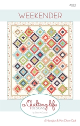 Weekender Quilt Pattern - 58'' x 68'' - Honey Bun/Mini Charm Friendly