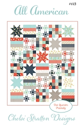 All American Quilt Pattern - 66 '' x 78'' - Fat Quarter Friendly