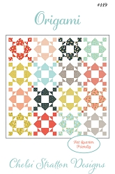 Origami Quilt Pattern - 81'' x 81'' - Fat Quarter Friendly