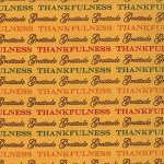 Give Thanks - Words of Gratutude - Gold