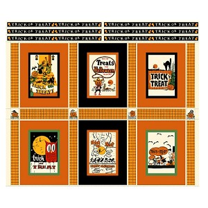 Trick or Treat Parade Quilt Kit includes Pattern and fabric to complete the quilt top & binding - 36 3/4'' x 42 3/4''