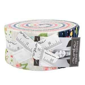 Orchard Jelly Roll includes 40 2 1/2'' strips from the collection by April Rosenthal for Moda Fabrics
