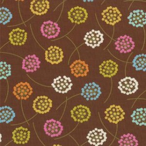 Wrens & Friends - Floral Dandelion - Chestnut - Gina Martin for Moda Fabrics yardage