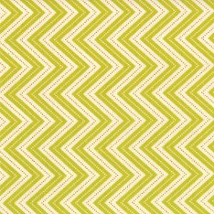 Wrens & Friends - Skinny Chevron - Lt. Green - Gina Martin for Moda Fabrics yardage
