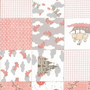Storybook - Patchwork Yardage - Peach - Kate & Birdie Paper Co. for Moda Fabrics - 2.5 yds sold as one piece