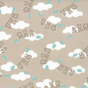 Storybook - Clothesline - Stone  - Kate & Birdie Paper Co. for Moda Fabrics