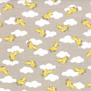Storybook - Airplanes - Grey & Yellow - Kate & Birdie Paper Co. for Moda Fabrics