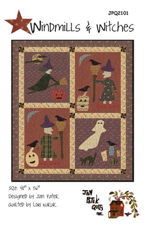 Windmills & Witches by Jan Patek - Applique
