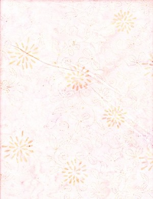 Anthology - Hand Made Batiks - Pale Pink Print by Anthology Fabrics Yardage