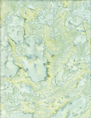Anthology Hand Made Batiks Solids - Pale Green/Yellow by Anthology Fabrics Yardage - 5 yds remaining - Full Cuts only