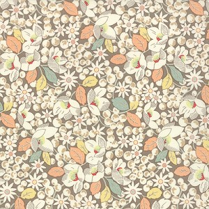 Strawberry Fields Revisited - Floral Strawberry Fields - Stone - Fig Tree & Co. for Moda Fabrics yardage - Full Cuts only