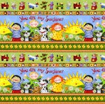 You Are My Sunshine - Kids Shelf Border - by Debi Hron for SPX-Fabrics