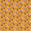 You Are My Sunshine - Circles & Flowers - Orange - by Debi Hron for SPX-Fabrics