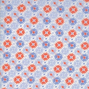 Sunnyside - Floral - Lt. Blue - Kate Spain for Moda Fabrics yardage - Five yds sold as one piece
