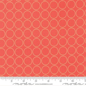 Sundrops Coral Circles by Corey Yoder for Moda Fabrics