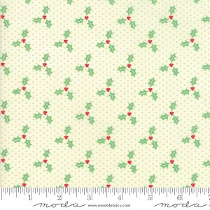 Swell Christmas Holly - Lt. Green - by Urban Chiks for Moda Fabrics yardage