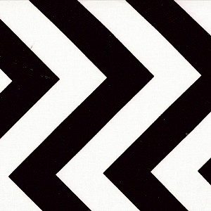 Half Moon Modern Zig Zags - Black - Medium Chevron - Moda Fabrics yardage