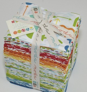 Imagine all your scrap bin favorites perfectly coordinated in a bold, playful array of colors and you've got a Mixed Bag of the latest must-have modern essentials. This collection is versatile and ready to mix up some fun!! Fat Quarter Bundle includes 40 fat quarters tied with a ribbon -
