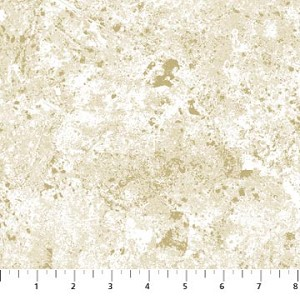 Stonehenge Metallic - Inca - Gold Flecks - Linda Ludovico & Deborah Edwards for  Northcott Fabrics yardage - TOTAL 4 yds remaining as follows: one 2.75 yd piece (must leave min. 1 yd on bolt), one 1.25 yd piece, sold as a full piece