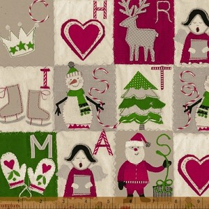 Craft Paper Christmas Windowpane Design - by Whistler Studios for Windham Fabrics yardage
