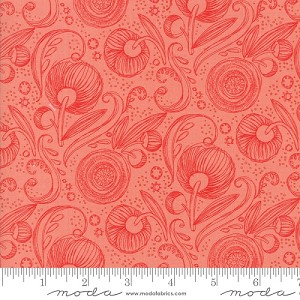 Blushing Peonies Pink Floral Swirls by Robin Pickens for Moda Fabrics yardage
