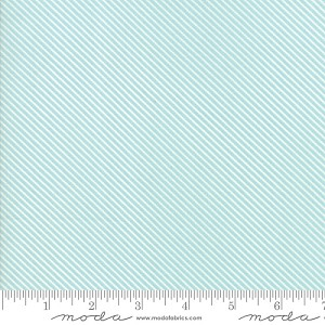 Garden Variety Diagonal Stripe - Blue Sky - Lella Boutique for Moda Fabrics yardage