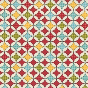 Wishes - Wrapping Paper - Red - Sweetwater for Moda Fabrics yardage 2.75 yds remaining - sold as one  piece