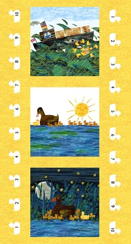10 Little Rubber Ducks Panel - Eric Carle - Andover Fabrics - 23'' x 44''