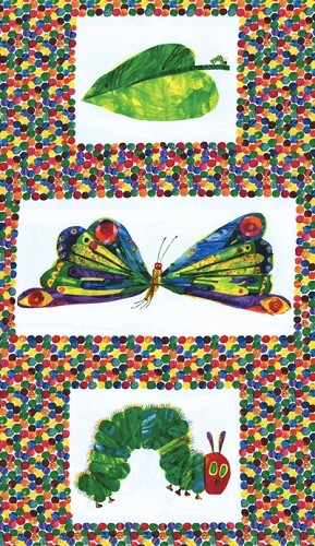 The Very Hungry Caterpillar by Eric Carle for Andover Fabrics - 23'' x 44''