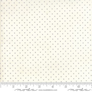Essential Dots - Silver on White by Moda Fabrics yardage - dots are 1/16''