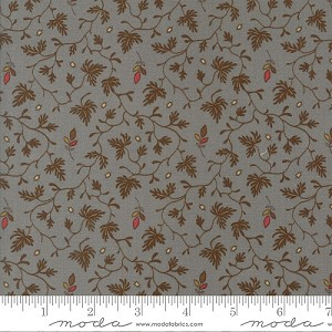 Gratitude Floral Meander - Dusty Teal - Jo Morton for Moda Fabrics yardage - 5.125 yds remain - Must leave min. 1 yd on bolt.