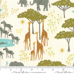 Safari Life Plains Animals - Cream by Stacy Iest Hsu for Moda Fabrics yardage