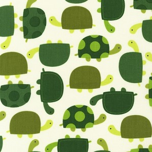 Urban Zoologie Tossed Turtles - Grass by Ann Kelle for Robert Kaufman Fabrics yardage - 2 yds remain - sold as one piece