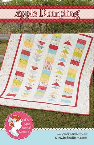 Apple Dumpling Quilt Pattern by It's Sew Emma featuring Wishes Fabrics by Sweetwater for Moda Fabrics - 60 1/2'' X 74 1/2''