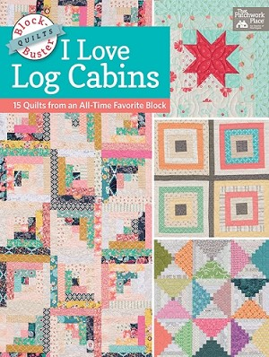 I Love Log Cabins Soft Cover Book includes 16 versatile and eye-catching Log Cabin designs in various sizes. The Log Cabin design is reimagined by today's top designers including Carrie Nelson (Miss Rosie), Brigitte Heitland (Zen Chic), Lissa Alexander (Moda, ModaLissa), and more.