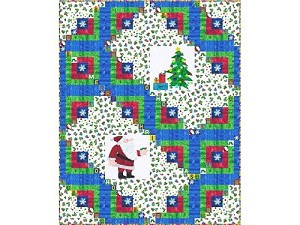 "Log Cabin Christmas - FREE Mfg. Quilt Pattern - 72"" x 90"" - You will need 5.75 yds of backing fabric"