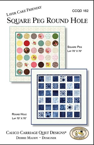 Square Peg Round Hole Quilt Pattern by Debbie Maddy for Moda Fabrics