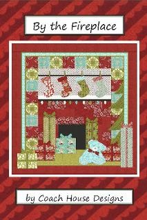 "By The Fireplace Quilt Pattern - Applique - Intermediate -  61"" x 67"""