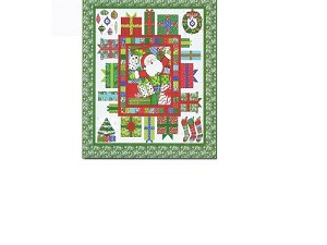 Christmas Cheer Quilt Pattern by Doug Leko of Antler Quilt Designs featuring Ho! Ho! Ho! by Deb Strain for Moda Fabrics - 53'' x 56'' - You will need 3.5 yds of backing fabric