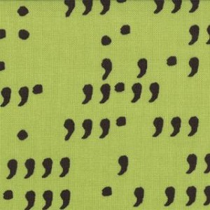 Comma - Commas - Lime&Black - Zen Chic - Moda Fabrics yardage - 4.75 yds remain - Must leave min. 1 yd on bolt