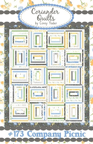 Company Picnic Quilt Pattern by Corey Yoder - 71'' x 86'' - Honey Bun Friendly - Fabrics pictured are from the Spring Brook collection by Corey Yoder for Moda Fabrics - Pattern is FREE with purchase of 2 Honey Buns