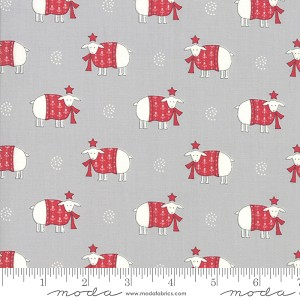 Country Christmas Sheep Sweater Weather - Dusty Grey by Bunny Hill Designs for Moda Fabrics yardage